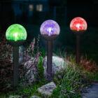 """LED szolár lámpa """"Kristály"""" (hidegfehér, 23 cm)"""