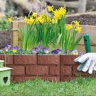 Virágágyás szegély / kerítés (téglahatású, 45 x 29,5 cm, 4 db / csomag)
