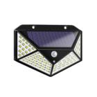100 LED-es mozgásérzékelős napelemes fali lámpa