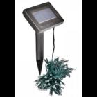 100 LED-es napelemes kerti fényfüzér, hidegfehér (10 m)