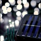 100 LED-es napelemes kerti fényfüzér, melegfehér (10 m)