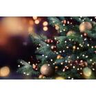 100 darabos karácsonyi függődísz gömbök (arany)