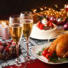Asztali futó karácsonyi (szürke, szarvasos, 28 x 180 cm)
