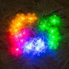 Fényfüzér LED Hópihe (színes, elemes 2 méter)