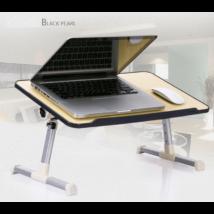 Állítható magasságú laptop asztal beépített ventilátorral