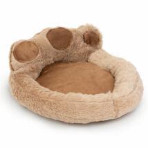 Mancs alakú kutyafekhely (XL méret, Világosbarna, barna)