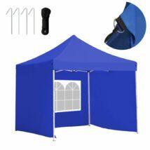 Kerti pavilon, összecsukható 3 fallal (3x3 m, kék)