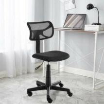 Alacsony háttámlás irodai szék (fekete)
