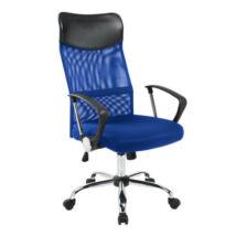 Ergonomikus irodai szék magasított háttámlával(kék)