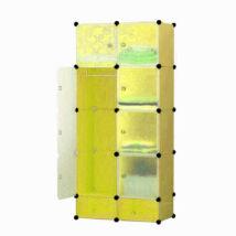 Műanyag elemes szekrény (sárga)