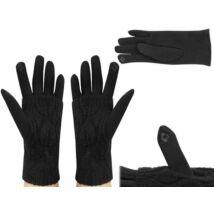 Univerzális szürke/fekete érintőképernyős kesztyű, extra hővédővel (Unisex)