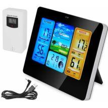 Időjárás állomás színes kijelzővel - Digitális hőmérő/higrométer