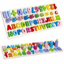 Betűk és számok gyermek fajáték