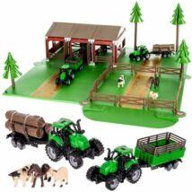 Farm állatokkal, két traktorral