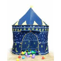 Kastély sátor gyerekeknek kék színben