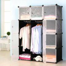 Moduláris ruhásszekrény (8 részes)