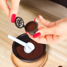 Újratölthető műanyag kávékapszula Nespresso géphez (5 darabos csomag)