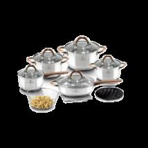 Blaumann Gourmet Line 12 részes rozsdamentes acél edénykészlet réz színű fogókkal