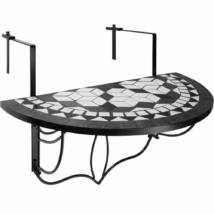 Lehajtható balkon asztal (fekete)