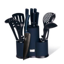 12 részes konyhai készlet késekkel és kiszedőkkel, sötétkék, Metallic Aquamarine Line