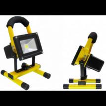 Hordozható akkumulátoros LED reflektor, 10 W