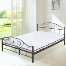 Fém ágykeret ajándék ágyráccsal (140x200cm, fekete)