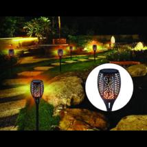 Lángokat imitáló napelemes kerti lámpa