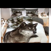7 részes Sendia ágyneműhuzat garnitúra 3D állatos mintával (Farkas)