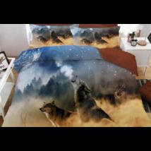 7 részes Sendia ágyneműhuzat garnitúra 3D állatos mintával (Farkasok)
