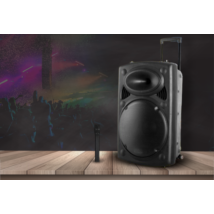 Hordozható akkumulátoros bluetooth hangfal ajándék mikrofonnal