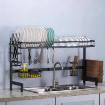 Edényszárító, dupla tálcás mosogató fölé