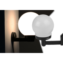 Napelemes fali lámpa, fekete gömb
