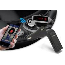 Szivargyújtós 4 az 1-ben Bluetooth FM transzmitter (fekete színben)