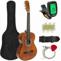 Akusztikus gitár szett kezdőknek, ajándék hangolóval (barna)