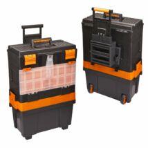 Húzható, többrészes műanyag szerszámláda (460 x 330 x 800 mm)