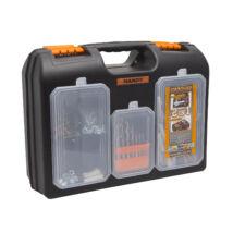 2 az 1-ben műanyag fúró + alkatrész tároló táska (15.7'' - 400 x 300 x 155 mm)