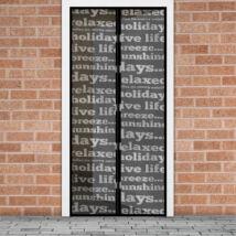 Mágneses szúnyogháló függöny ajtóra (100 x 210 cm, feliratos)