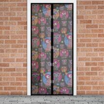 Mágneses szúnyogháló függöny ajtóra (100 x 210 cm, baglyos)