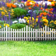 Virágágyás szegély / kerítés (60 x 23 cm, műanyag)