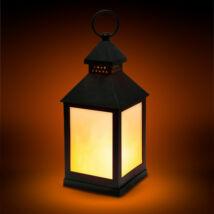Lángokat imitáló elemes LED lámpa (fekete)