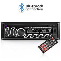 CD/MP3 fejegység - Bluetooth, FM tuner, USB, SD, AUX - változtatható háttérvilágítással