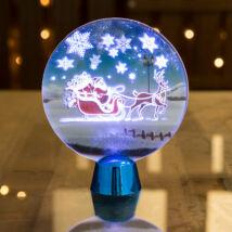Karácsonyi asztali LED dekor fényes talppal kör alakú (15 cm)