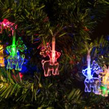 Fényfüzér LED Rénszarvas (színes, elemes, 2 méter)