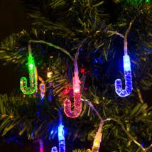 Fényfüzér LED Nyalóka (színes, elemes, 2 méter)