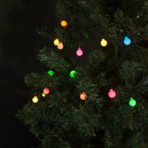 Fényfüzér LED színes, gömb hálózati (3 méter, 8 program)