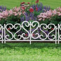 Virágágyás szegély / kerítés (62 x 32 cm, műanyag)