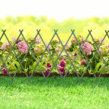 Virágágyás szegély / kerítés (kihúzható, 200 x 100 cm, zöld)