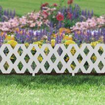 Virágágyás szegély / kerítés (60 x 22 cm, fehér)