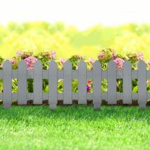 Virágágyás szegély / kerítés (40,5 x 29,5 cm, szürke)
