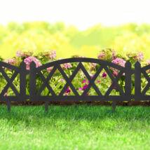 Virágágyás szegély / kerítés (60 x 24 cm, fekete)